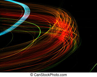 Sixflags at night - Light painting