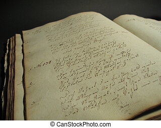 Antique Book II - An antique handwritten book.