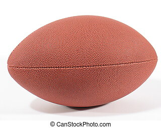 American Footb III - Side view of an American football on...