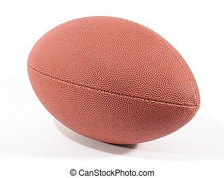 American Footb IV - Front view of an American football on...