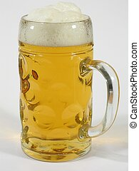 Big Beer Glass - A huge glass of beer on white background