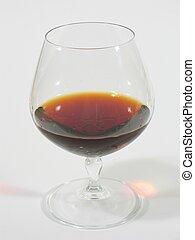 Glass with Brandy I - A glass with brandy.