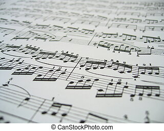 Sheet Of Music - Close-up of a sheet of classic music