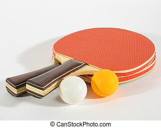 Table Tennis Racks - Two table tennis racks with a white and...