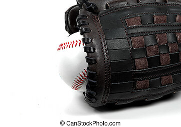 Baseball and Glove - Photo of Baseball and Glove