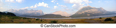 Mountain Panoramic - A panoramic shot of the canadian rocky...