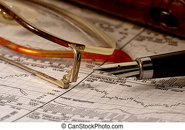 Stock Market - Photo of Charts, Glasses and Pen