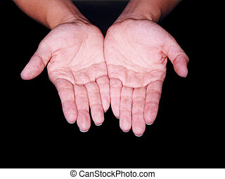 Holding - Hands holding with clipping path