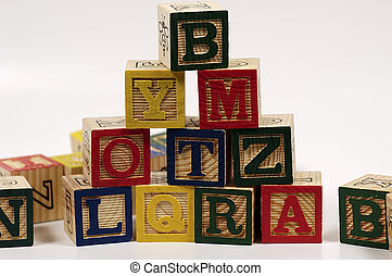 Block Pyramid - Photo of Baby Blocks In The Form of a...