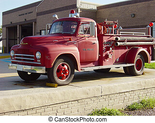 Old Fire Truck - A retired piece of fire fighting equipment...