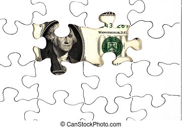 Uncovered Money 2 - Photo of Puzzle With Money SHowing...