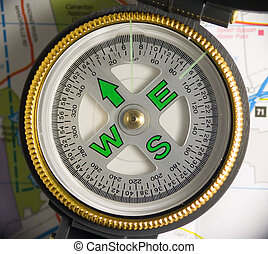 Compass - Photo of Compass Face.