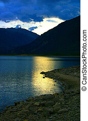 Dusk over Twin Lakes, north of Buena Vista, Colorado