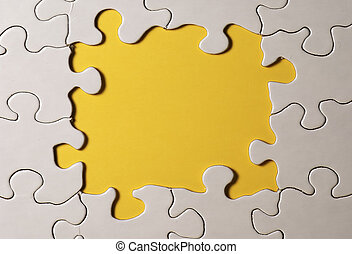 Puzzle Border - Photo of Puzzle With Pieces Missing in...