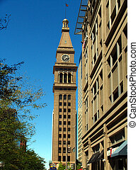 Old clock tower - A clock tower in Denver