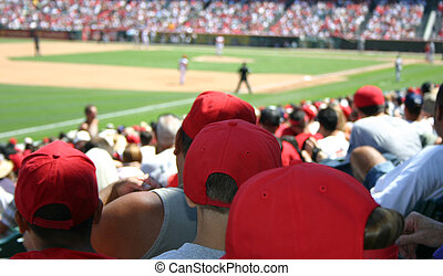 Baseball Crowd - A large crowd watching a baseball game