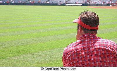 Man Watching Game