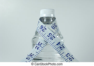Water Bottle - Photo of Water Bottle With Measuring Tape...