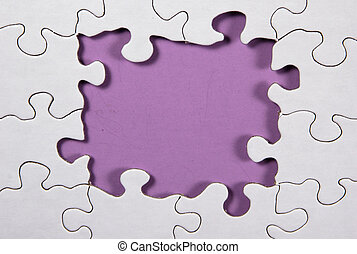 Puzzle - Purple - Photo of Puzzle With Light Purple...