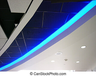 Abstract Blue - Airport Ceiling