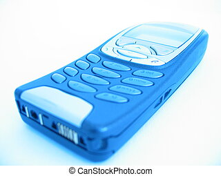 Cell Phone blue - A cellular phone in blue shine.