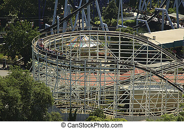 Rollercoaster - Photo of a Rollercoaster With Car...
