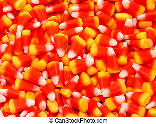 Close Up Candy Corn - Pile of candy corn close up.