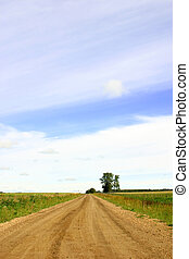 Open Country Road - An open country road on the praries.