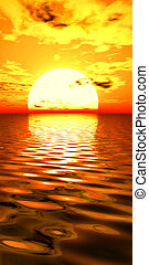 Surreal Sunrise - Digital created sunrise scene.