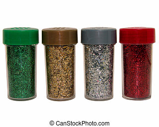 Glitter Bottles - Red, green, silver, gold glitter bottles...