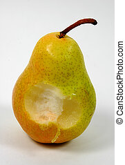 Pear 3 - Photo of Pear With Bite Taken Out of It.