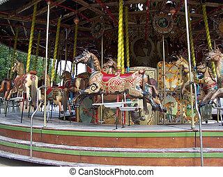 Carousel in the Tuileries Gardens in Paris
