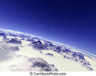 8000m - 8000 meters above the mountains... (digital created)...