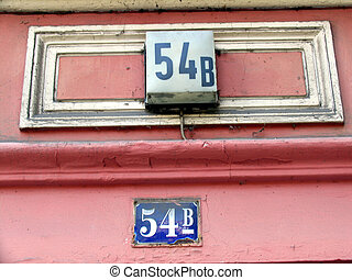 House sign 54 b