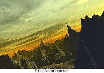 Alien World-Halton - Digital created scifi scenery.