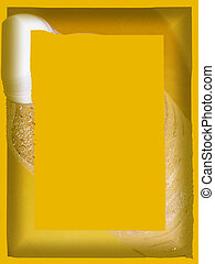 Water Bottle - Frame border using shades of yellow and a...