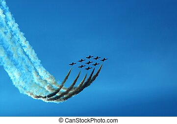 Teamwork - Canadian Snowbirds in formation Lots of room for...