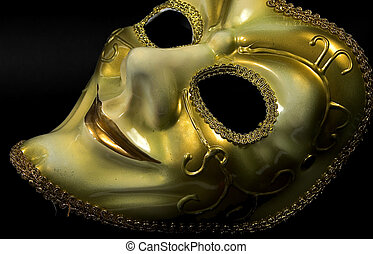 Gold Mask - Photo of Gold Show Mask