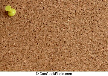 Corkboard with pushpin