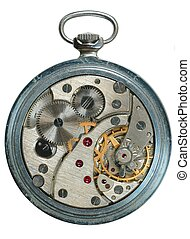 Watch - Pocket-watch on a white background.