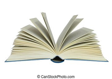 Book - Open book on a white background.