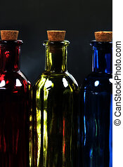 RGB Bottles - Photo of RGB Bottles With Blur and Saturation...