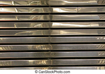 Chrome strips - Chrome slats on a wall