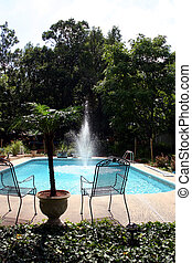 Back yard 4 leisure - A picture of my friends pool in the...