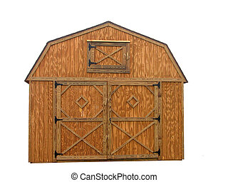 Storage Unit - Wooden double door barn style outdoor storage...