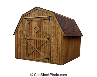 Storage Unit 3 - Single door barn style wooden outdoor...