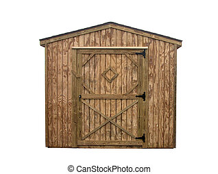 Storage Unit 4 - House style wooden outdoor storage unit....