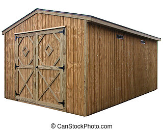 Storage Unit 5 - Large double door wooden outdoor storage...