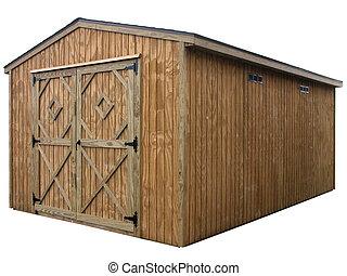 Storage Unit 5 - Large double door wooden outdoor storage...