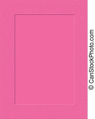 Pink frame - Pink polka dotted picture frame border.